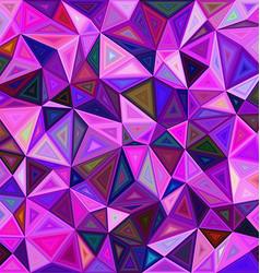 Irregular triangle mosaic tile background design vector image