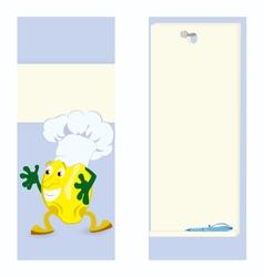 Lemon cartoon character card vector image