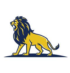 lion mascot logo roaring template design vector image