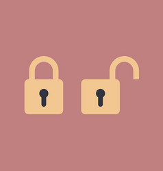 lock and unlock icon vector image