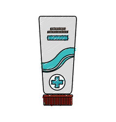 Medical cream tube isolated icon vector