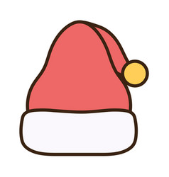 merry christmas celebration hat santa vector image