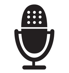 microphone icon on white background retro vector image