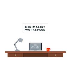 minimalist workspace flat icon isolated vector image