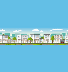 modern white houses also usable as a continuous vector image