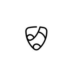 Music pick logo design template vector