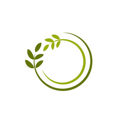 Nature green leave template design vector
