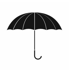 Open umbrella icon simple style vector image