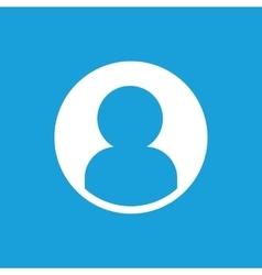 Profile icon white vector