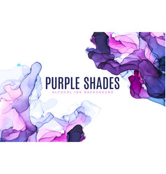 Purple and pink shades wet ink background vector