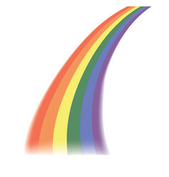 rainbow ray on white background vector image