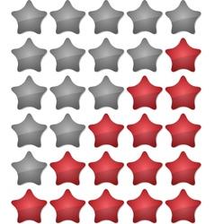 Ranking stars vector