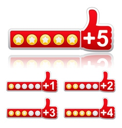 rate buttons vector image