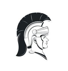 Roman centurion in a helmet with crest vector