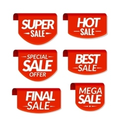 Sale tags labels Special offer hot sale special vector