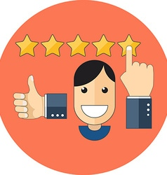 Satisfied customers concept Flat design Icon in vector image