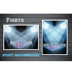 Set Backgrounds of fighting prize vector