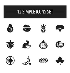 set of 12 editable cooking icons includes symbols vector image