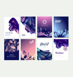 set of brochure and annual report design templates vector image