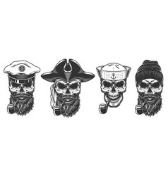 set of sailors vector image