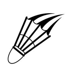 Shuttlecock badminton sport icon image vector