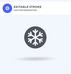 Snow icon filled flat sign solid vector
