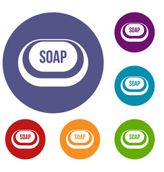 Soap icons set vector