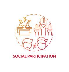 Social participation concept icon vector