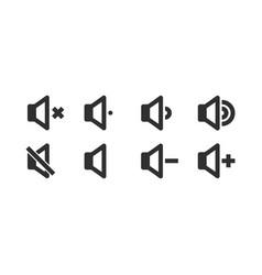 sound volume control icons vector image