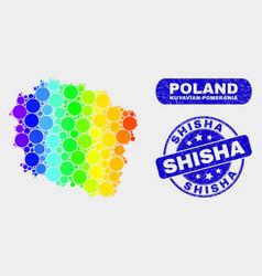Spectral mosaic kuyavian-pomeranian voivodeship vector
