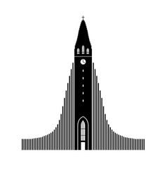 Symbol reykjavik iceland vector