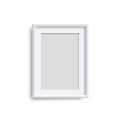 vertical blank picture frame realistic white vector image