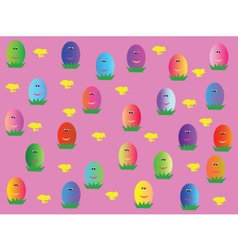 wallpaper with eggs vector image