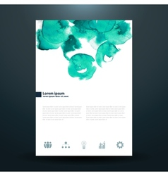 Watercolor business template with circles vector
