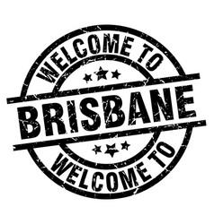 welcome to brisbane black stamp vector image