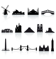 world monuments set 2 vector image