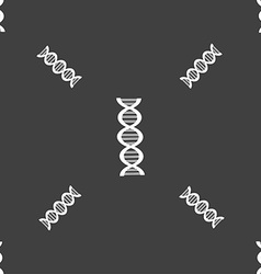 DNA sign Seamless pattern on a gray background vector image