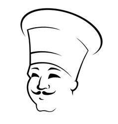 Doodle sketch of a chef in a toque vector image vector image