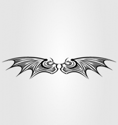 dragon wing vector image