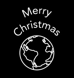 merry christmas planet vector image vector image