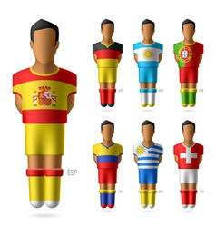 Soccer football players vector image