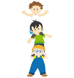 boys playing vector image vector image