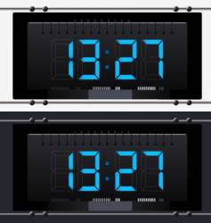 electronic clock with dial vector image vector image