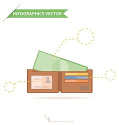 Infographics WalletAndMoney vector image