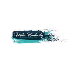 logo design brush template logotype layout vector image