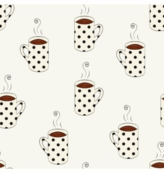 Seamless pattern with sketching dotted cups vector image