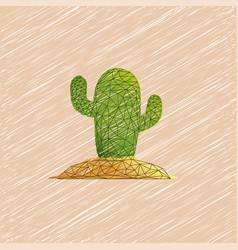 Cactus desert plant prickly plant thorny vector