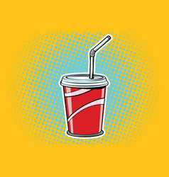 paper cup fast food beverage vector image