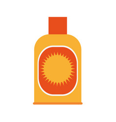 sunblock bottle icon vector image