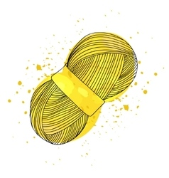 a ball of yellow yarn for vector image